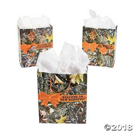 Camouflage Wedding Gift Bags - Camo Wedding Theme