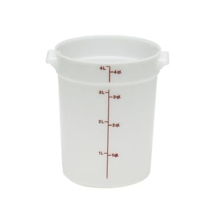 Cambro Plastic Storage Round Food Container White, 4 qt. | 1/Pack Cambro Cold Food Storage Box