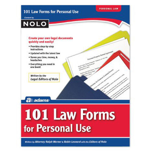 Adams Business Forms 101 Law Forms For Personal Use Book (Set of 6) (Set of 6)