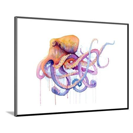 Octopus 2 Wood Mounted Print Wall Art By Sam -