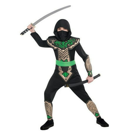 Deluxe Dragon Slayer Ninja Costume Child Boys Medium 8 - 10](Dragon Tales Costume)