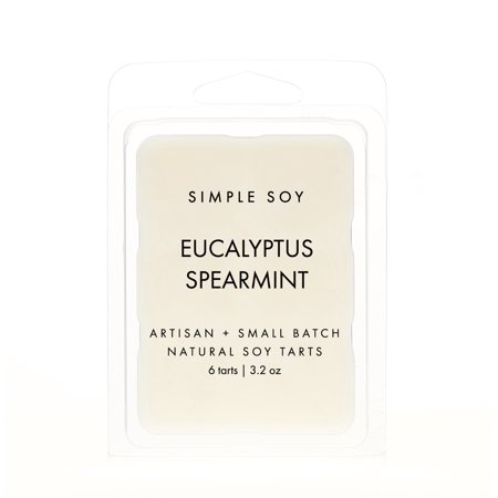 Simple Soy Natural Scented WAX MELTS, Eucalyptus Spearmint