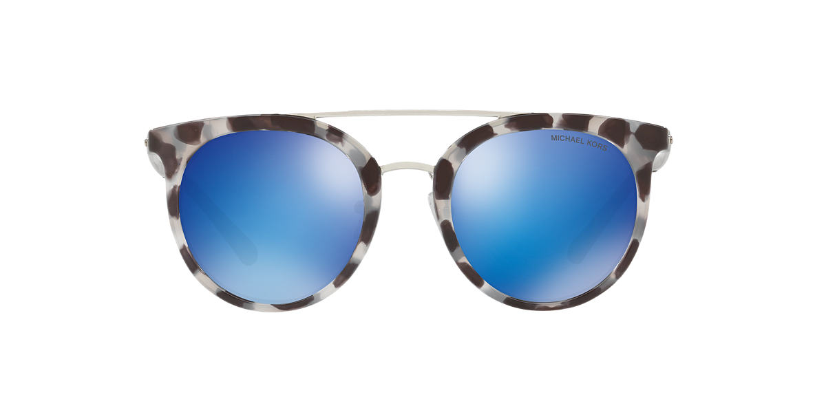 Michael Kors Damen Sonnenbrille Ila 327525, Snow Leopard/Cobaltmirror, 50