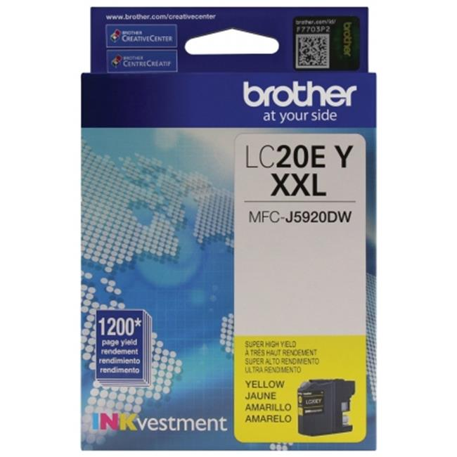 Brother International LC20EY Innobella Super High-Yield Ink, Yellow