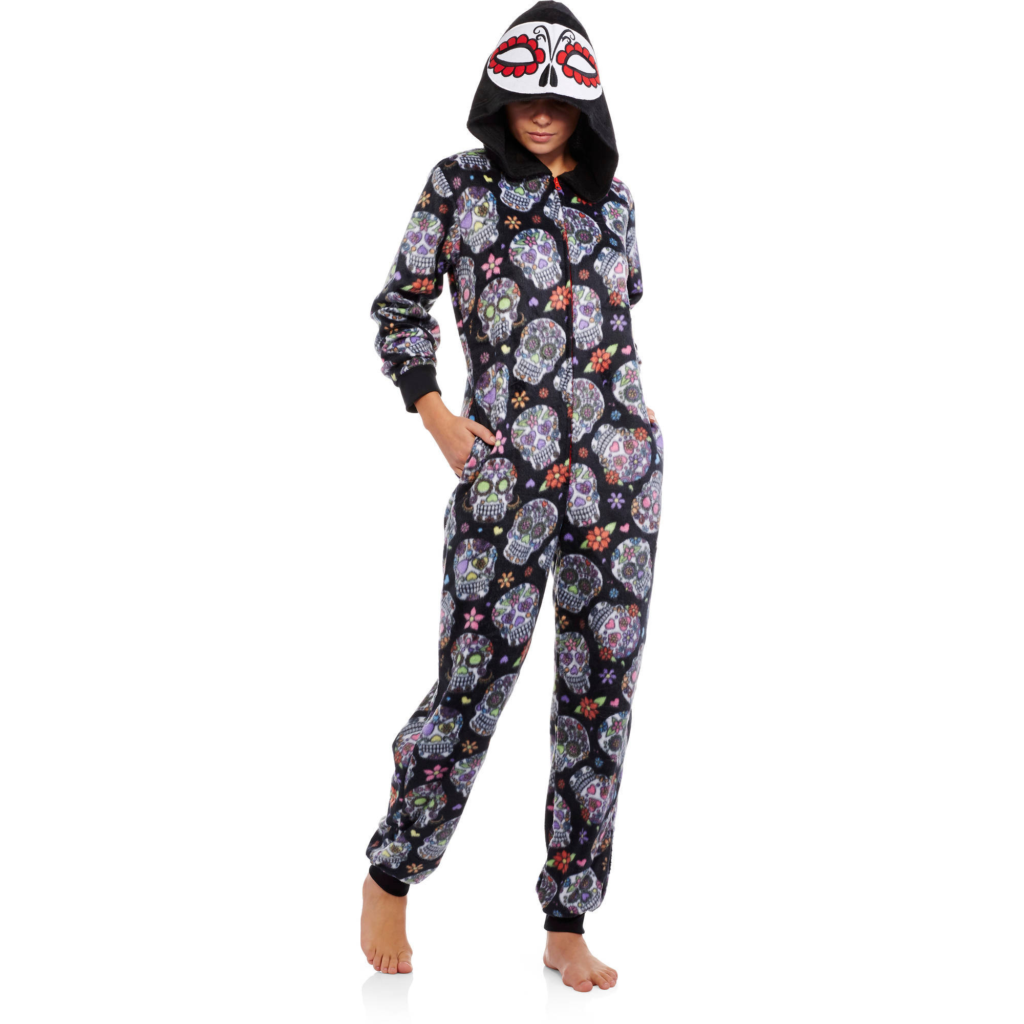8c7428fe9 Juniors Microfleece Sleepwear Adult Onesie Costume Union Suit Pajama ...