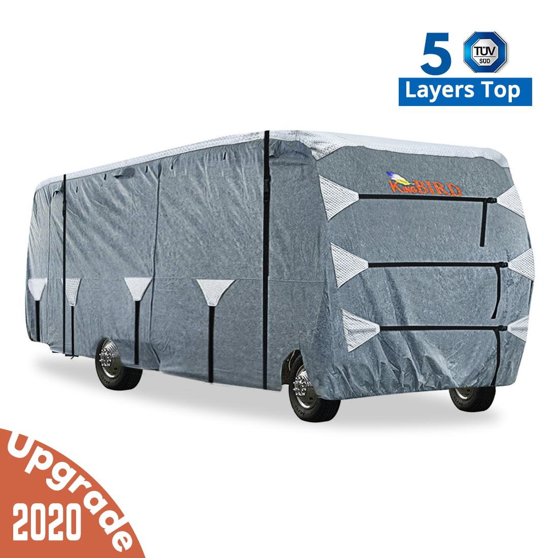 Coverking RVCC34P62 Universal Fit RV Cover Class C Length 32 ft Presidium, Grey to 34 ft.-