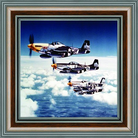 Historically Yours P-51 Mustang Fighters, Aviation Picture Frame, 10x10 8516