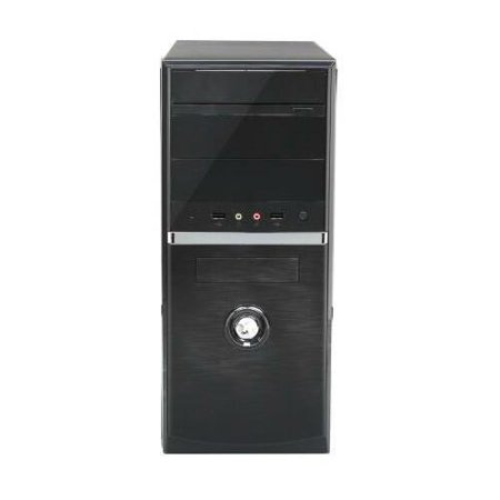 Compucase Enterprise Black 0.5mm Thickness SECC Micro ATX/ ATX tower case with front USB/Audio AAA