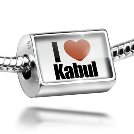 Bead I Love Kabul Region  Afghanistan  Asia Charm Fits All European Bracelets