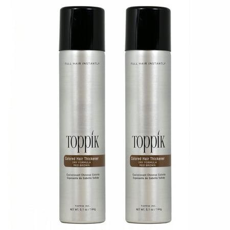 Toppik Colored Hair Thickener Dry Formula 5.1 oz Medium Brown (Pack of