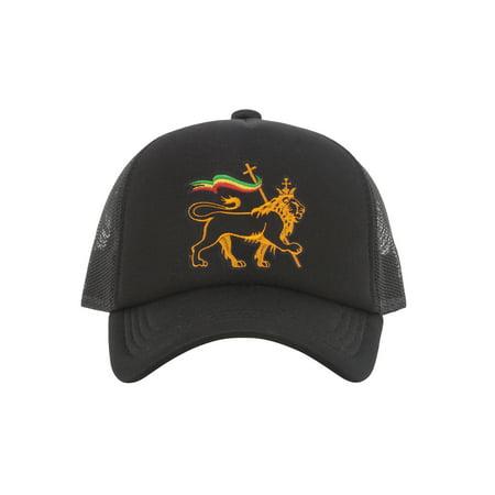 Rasta Lion of Judah Trucker - Rasta Dread Hat