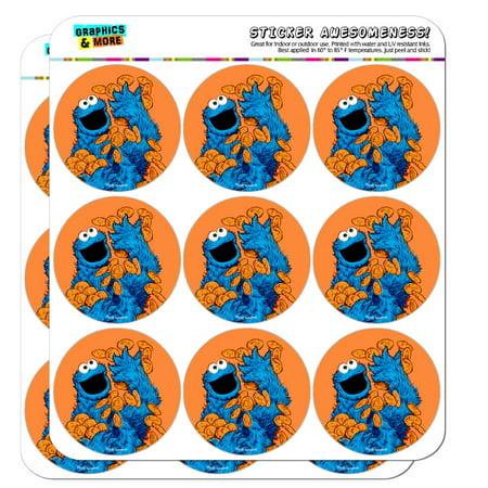 Sesame Street Vintage Cookie Monster Planner Calendar Scrapbooking Crafting Stickers
