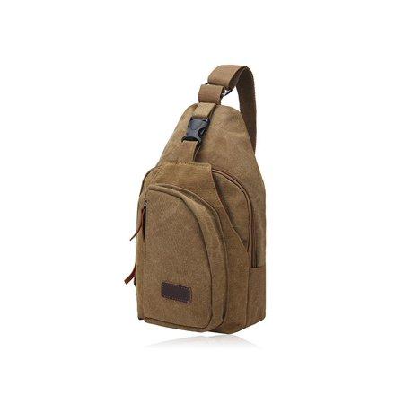 5cfba10b2661 Men Military Canvas Messenger Shoulder Bag Sling Travel Tactical Backpack  Chest Bag - Walmart.com