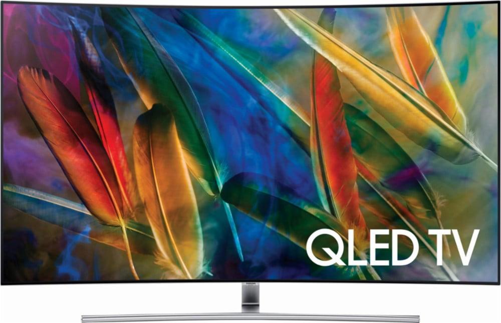"""Refurbished Samsung 65"""" Class 4K (2160p) Curved QLED TV (QN65Q7CDMFXZA) by Samsung"""