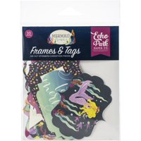 Mermaid Dreams Cardstock Die-Cuts 33/Pkg-Frames & Tags