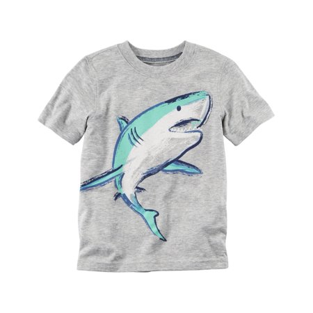 Carters Baby Clothing Outfit Boys Shark Graphic Tee Gray