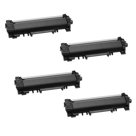 1200 Inkjet - Compatible Brother TN730 toner cartridges - WITH CHIP - black - 4-pack (1200 page yield each)