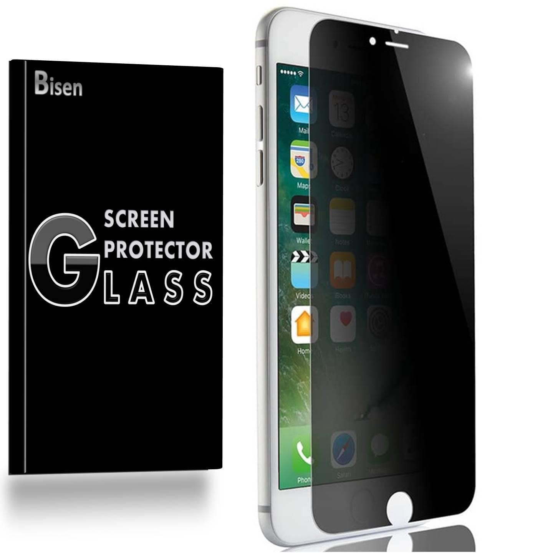 iPhone 8 Plus [BISEN] Privacy Tempered Glass Screen Protector, Anti-Spy Anti-Scratch, Anti-Shock, Shatterproof