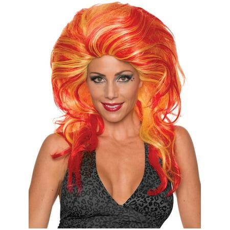 Helen Wheels Fiery Red Head Big Wig Women