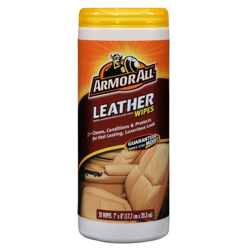 Armor All Leather Wipes Canister, 20 Count