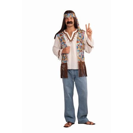 Halloween Men's Hippie Groovy Costume Set - Dog Hippie Costume