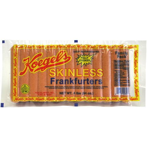 Koegel's Skinless Frankfurters, 64 oz