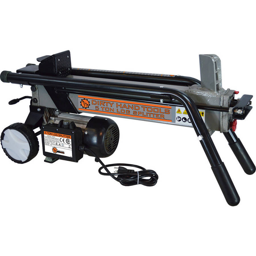 Dirty Hand Tools 5 Ton Electric Horizontal Log Splitter by FrictionlessWorld LLC