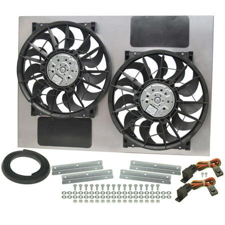 Derale Dual 13 In 4000 Cfm Ho Rad Electric Cooling Fan P N 16927