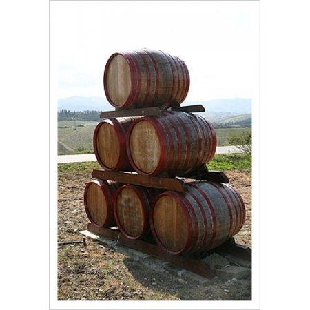 Wine Barrels Tuscany Poster Print by Igor Maloratsky (13 x 19) (Bella Tuscany Prints)