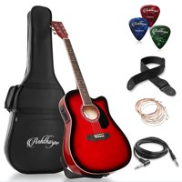 Ashthorpe Full-Size Cutaway Thinline Acoustic-Electric Guitar Package - Premium Tonewoods