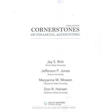 Cornerstones of Financial Accounting + 2011 Annual Reports - Under Armour, Inc. & Vf Corporation + Cengagenow, 1 Term 6 Month Printed Access Card