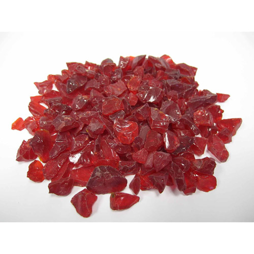 Exotic Pebbles & Aggregates Red Landscaping Glass, 10 lb