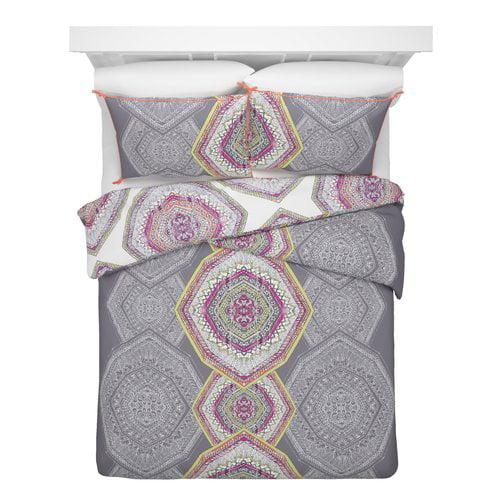 Bungalow Rose Caston Cotton 3 Pieces Reversible Comforter Set