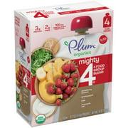 Plum Organics Mighty 4 Blends Strawberry Banana, Greek Yogurt, Kale, Oat & Amaranth, 4oz (Pack of 4)