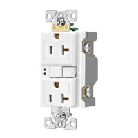 Wiring SGF20W Self-Test GFCI Receptacle Duplex, White