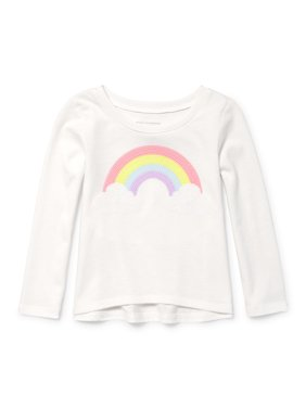 c555d39580bb77 White Toddler Girls Tops   T-Shirts - Walmart.com