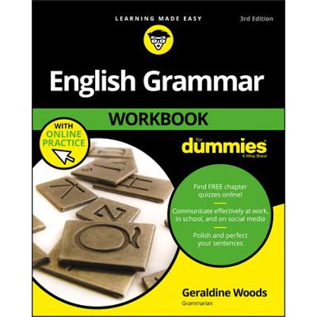 English Grammar Workbook for Dummies, with Online - English Ladder Back