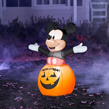 3' Tall Airblown Mickey Mouse Halloween - Walmart.com