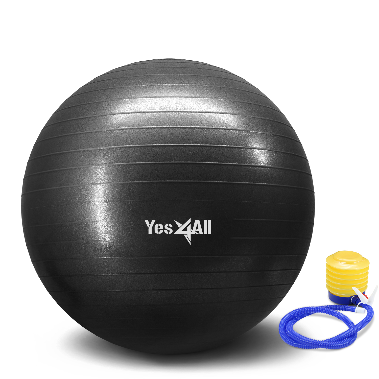Yes4All Yoga Ball with Pump - Anti Burst & Extra Thick Stability Ball / Balance Ball / Fitness Ball - Small Yoga Ball
