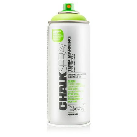 Montana Can GREEN Chalk Spray Paint 400ml Temporary Marking Eco-Friendly Aerosol