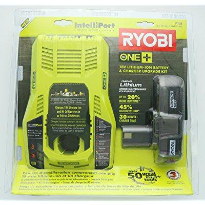 Ryobi P128 Upgrade Kit  Intelliport 18V Lithium Ion Battery Charger  P117  And Single 18V Lithium Ion Battery  P102  Compatible With One  System