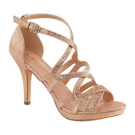 DAPHNE-42, 4'' Heel 2/5'' Platform Criss Cross Ankle Strap Sandal
