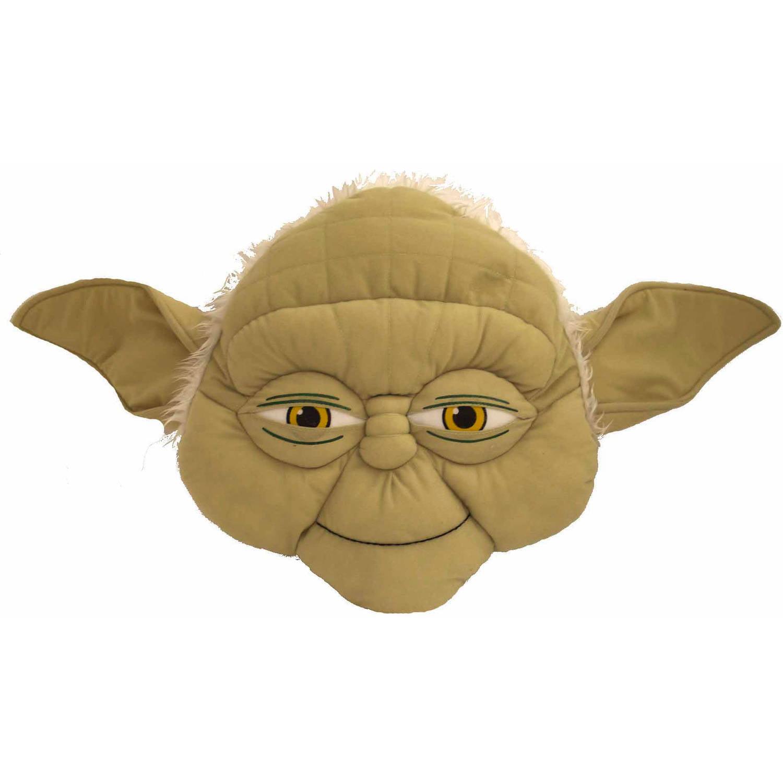 Star Wars Yoda Face Pillow Yoda Green New