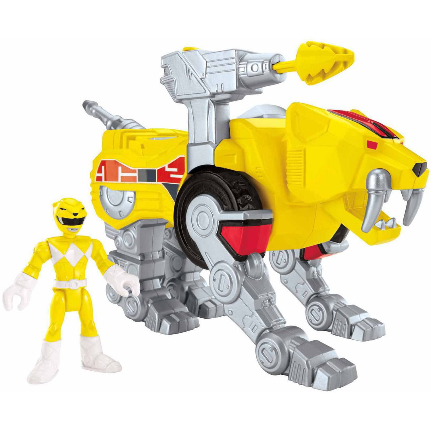 IMaginext Power Rangers Yellow Ranger and Sabretooth Zord by FISHER PRICE