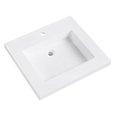 Integrated Bowl - Avanity VersaStone 25 in. Acrylic Single Sink Vanity Top with Integrated Sink