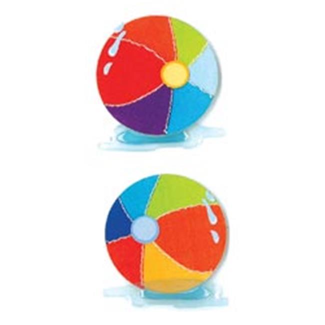 415136  By You Dimensional Stickers Slim-Beach Balls - image 1 de 1