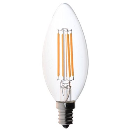 Bioluz Led Dimmable Filament Candelabra Clear 60 Watt Led