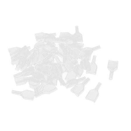- Unique Bargains 50 Pcs Clear 7.8mm PVC Crimp Terminal End Insulated Cover Sleeves