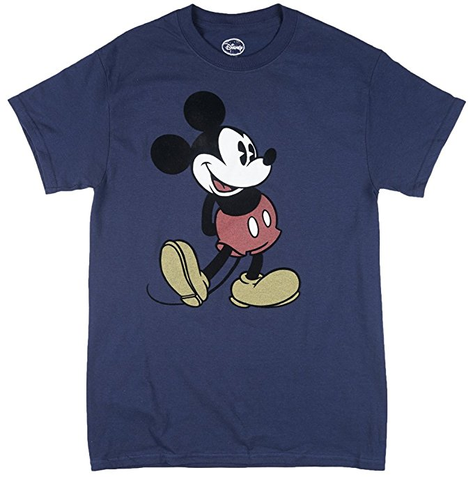 Disney Plus Size Mens Mickey Mouse Head to Toe Navy T Shirt