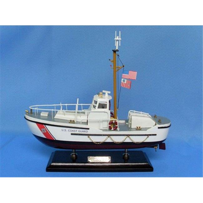 Handcrafted Model Ships USCG Utility 16 USCG 44 Foot Motor Lifeboat 16 in. Coast Guard Decorative Accent by Handcrafted Model Ships